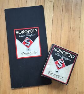 Vintage 1936 Monopoly Game with board and components