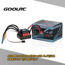 GoolRC S-80A Brushless ESC Speed Controller w/ 6.1V/3A SBEC for 1/8 RC Car K0U9