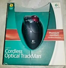 RARE BRAND NEW & SEALED Logitech Cordless Optical TrackMan Mouse T-RB22