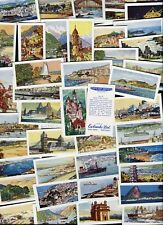 """EWBANKS 1960 SET OF 50 """"PORTS AND RESORTS OF THE WORLD"""" TRADE CARDS"""