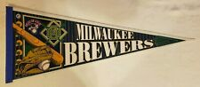 Milwaukee Brewers 1990's Ball in Glove W/ bat MLB Baseball Team Pennant WinCraft