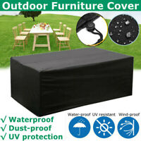 Outdoor Cover Garden Furniture Waterproof Patio Rattan Table Chair Cube Seat