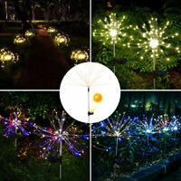 jardin actionné solaire allum lumière extérieur chemin LED feu d'artifice BR G