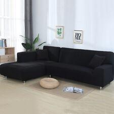 2pcs Sofabezug stretch elastische Sofahusse Abdeckung Für L Form Schnittsofa #G