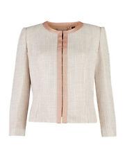 TED BAKER blush pink boucle tweed tailored smart jacket blazer work wedding 2 10