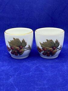 Pair ROYAL WORCESTER EGG CODDLERS EVESHAM Currents Pattern English Porcelain