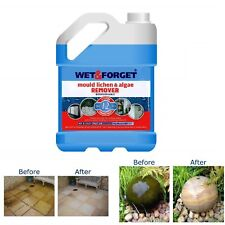 Mould Removal Wet and Forget Algae Lichen Outdoor Cleaning Moss Dirt 2L