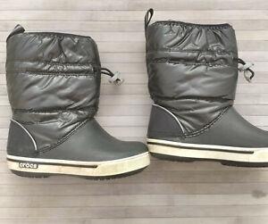 Crocs Crocband LodgePoint Boot, Bottes de Neige Mixte Enfant taille C11 27-28.5