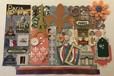 Paris France Travel Custom Mini Book Chipboard Album Kit Scrapbook