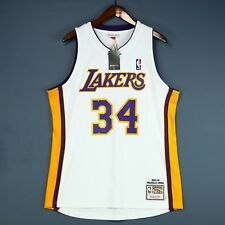 100% Authentic Shaquille O'Neal 03 04 Lakers Mitchell & Ness Jersey Size 44 L