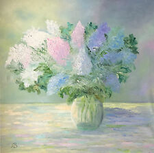 Bouquet de lilas Peinture à l'Huile sur toile non encadrée 60x60