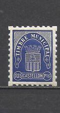 1068-SELLO GUERRA CIVIL TIMBRE  MUNICIPAL 5 C CASTELLON local SPAIN CIVIL WAR