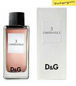 3 L'Imperatrice by D&G Dolce & Gabbana 100ml Eau De Toilette Spray NEW & SEALED