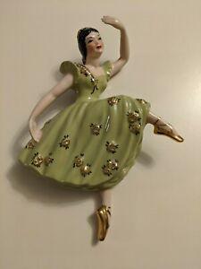 Vintage Ceramic Arts Studio Madison Wisconsin Attitude Ballet Dancer Wall Plaque