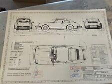 Neues AngebotPorsche. 911 G 1973 Konstruktionszeichnung/ Blueprint.