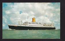 vintage North German Lloyd TS Vierschrauben ship Germany postcard