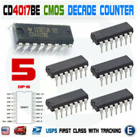 5pcs CD4017 CMOS Decade Counter Driver IC 4017 CD4017BE DIP-16 CD4017B