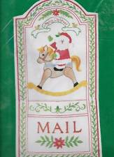 Vintage Christmas Mail Pouch Crewel Embroidery Kit Needle Treasures