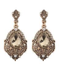 Stud Earrings Wedding Party Earrings Earrings Teardrop Filigree Gt Crystal Drop
