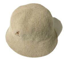 Vintage Kangol Bucket Hat Beige Angora