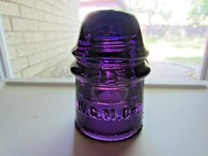 WGM / W.G.M dark purple glass insulator - CD121
