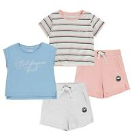 Girls SoulCal Signature Stylish Casual T Shirt And Short Set Sizes from 7 to 13