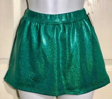 Gk Elite Cheer Skirt Adult Medium Kelly Green Hologram School Fit Am Nwt!
