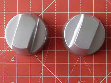 2 x Oven/Hob Universal Knob Silver fits most brands with instructions