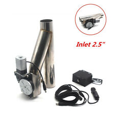 """New Electric Exhaust Piping Tube Downpipe Cutout E-Cut Out Dual-Valve Remote2.5"""""""