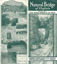 Natural Bridge Hotel & Cottages Vintage Brochure  Shenandoah Valley Photos Map