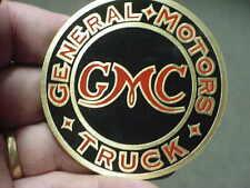 GMC Truck Name Plate Logo acid etched bras Hubcap - Gas Cap - Radiator Medallion