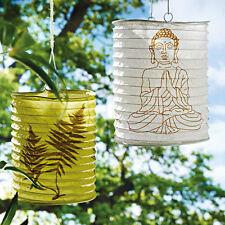 Neu+Papierlaterne+Gartenlaterne+Laterne+Lampion+2-tlg.+Buddha+Teelichthalter+