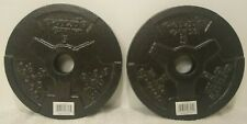 2 Golds Gym 5 Lb Pound Weight Plates 10 Pounds Total NEW with FREE SHIPPING!!