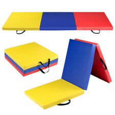 6'x2' Fitness Exercise Tri-Fold Gymnastics Mat Colorful