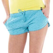 Corredor de algodón para mujer Superdry pantalones cortos, aguamarina, pequeño reino Unido 10, BNWT