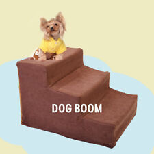Pet Stairs 3 Steps for High Beds Small Dog Ramp Little Cat Puppy Climb Ladder