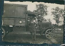 Première Guerre Mondiale 1914/18, Camion et son Chauffeur    Vintage silver prin