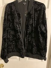 ee306a86bf930 Beautiful Torrid Velvet Floral Tropical Bomber Jacket Coat 1