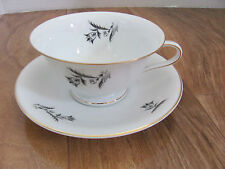 Rosenthal Selb Bavaria-Scattered Gray/Black Tulips-Cup & Saucer(s)-Up to 8 Avail