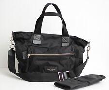 Marc Jacobs 'Biker' Nylon Weekender Baby Bag - Black / Silver Hardware