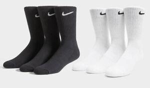 Nike 1/3/6 Pairs Mens Womens Lightweight Crew Socks Sports Cotton Socks Lot