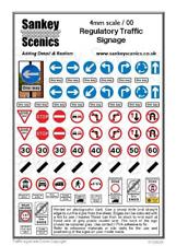 Sankey Scenics RTS/RS4 Regulatory Traffic Signage 4mm OO Gauge