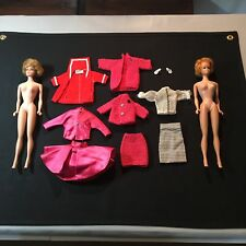 VINTAGE BARBIE LOT / 2 MIDGE DOLLS 1958/1962 BUBBLE CUT / CLOTHES OUTFITS SHOES