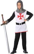 Déguisement Garçon CHEVALIER Templier Blanc 5/6 Ans Enfant Médiéval NEUF