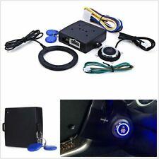 Keyless Entry Car Engine Push Start Button RFID Lock Ignition Starter Alarm 12V