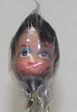 1 Vintadge Brown Haired Girl Doll Head on stick