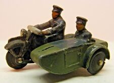 DINKY TOY #42b POLICE MOTORCYCLE WITH SIDECAR