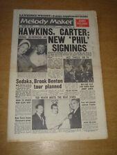 MELODY MAKER 1960 OCTOBER 22 COLEMAN HAWKINS NEIL SEDAKA ELVIS BING CROSBY +