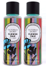NEW 2 VICTORIA'S SECRET FLOWER TRIP FRAGRANCE BODY MIST SPRAY 8.4 OZ WATER LILY