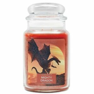 Village Candle Double Wick Large Candle Jar - Might Dragon